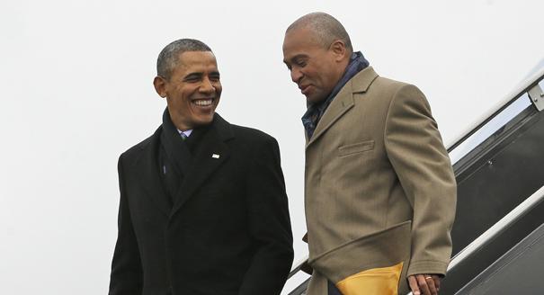 Barack Obama, Deval Patrick,